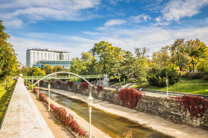 Herbst in Stadtpark - Stadt-Park - Wien lizenzfreie stockfotografie