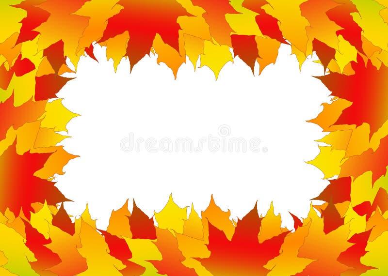Herbst treibt Feld Blätter lizenzfreie abbildung