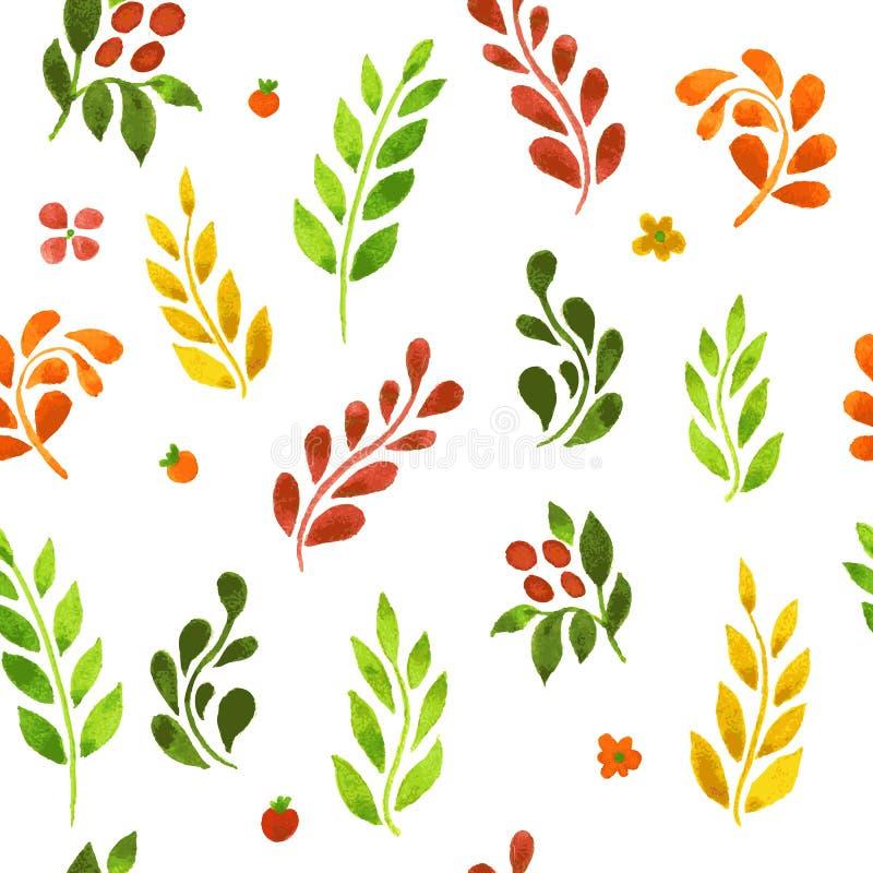 Herbst treibt Muster Blätter lizenzfreie abbildung