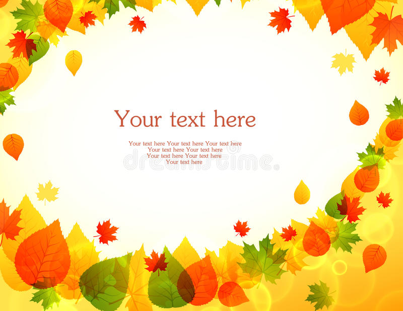 Herbst treibt zurück Blätter vektor abbildung