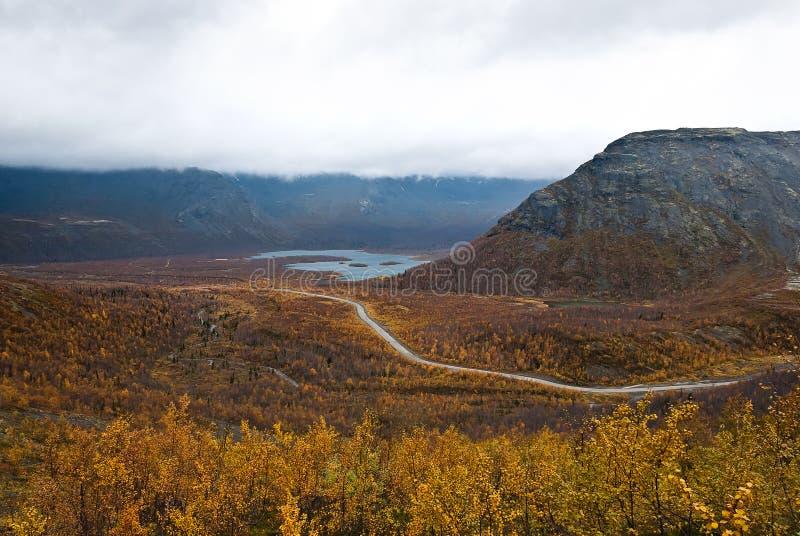 Herbst-Tundra lizenzfreie stockbilder