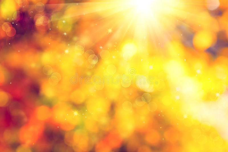 Herbst Unscharfer abstrakter Hintergrund stockbild