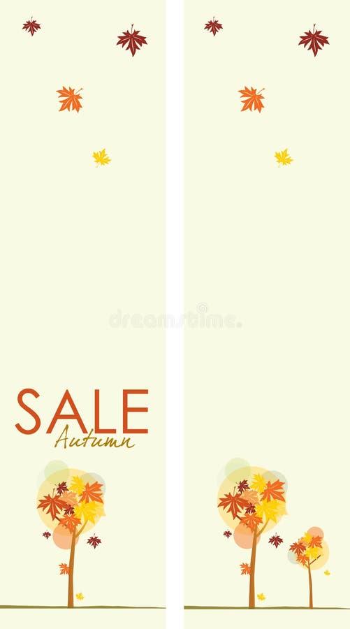 Herbst-Verkaufs-Fahnen vektor abbildung