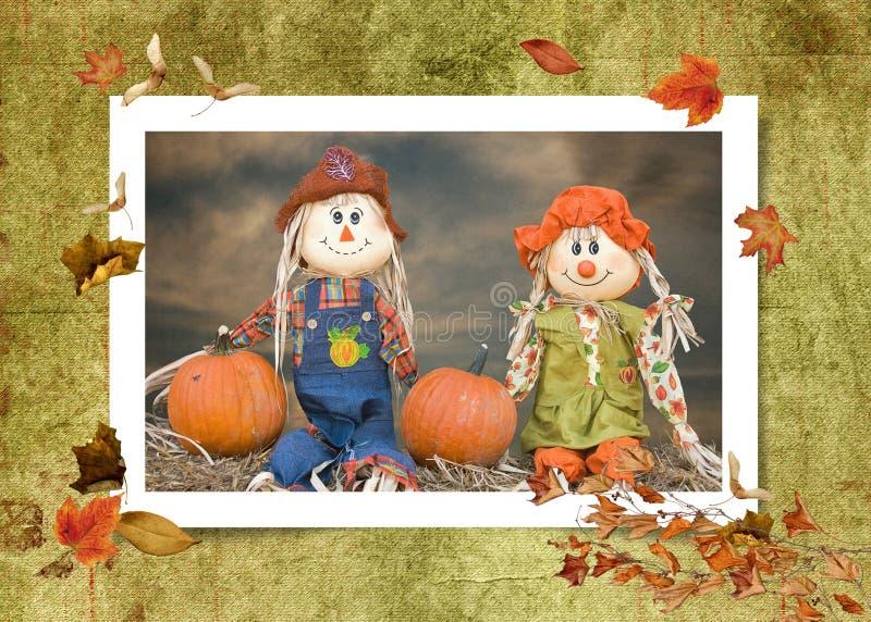 Herbst-Vogelscheuche-Paare stockfotos