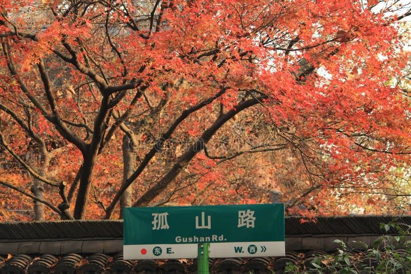 Herbst von Hangzhou Westsee lizenzfreies stockbild
