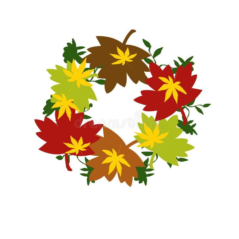 Herbst Wreath vektor abbildung