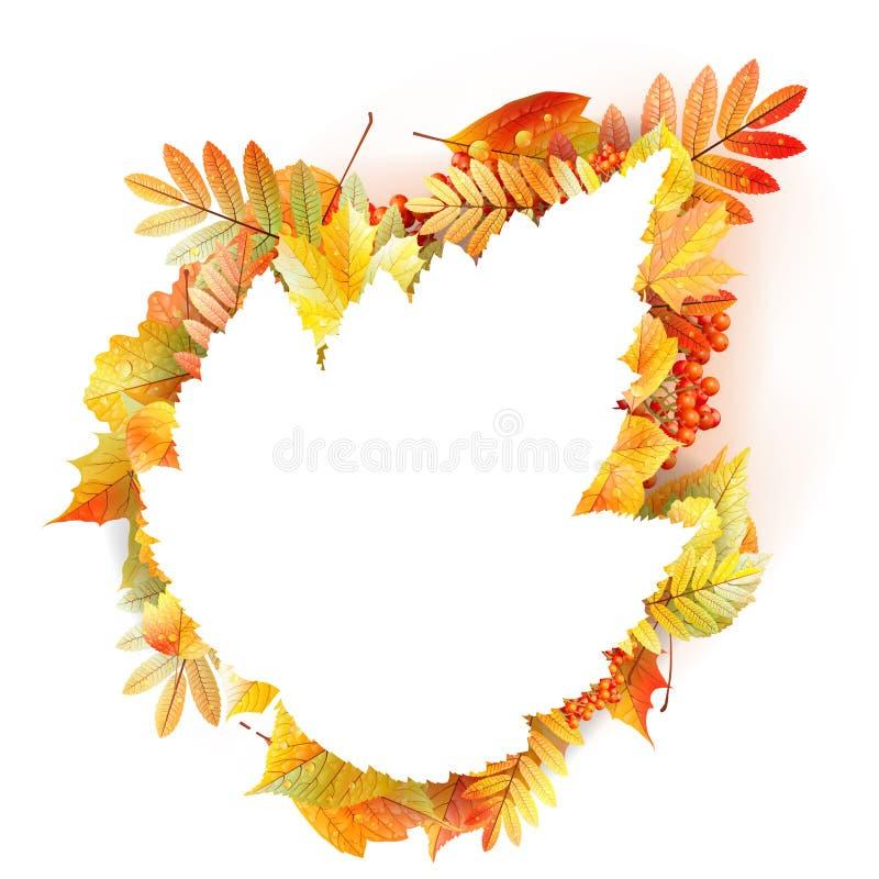 Herbstabstrakter Blumenhintergrund mit copyspace stock abbildung