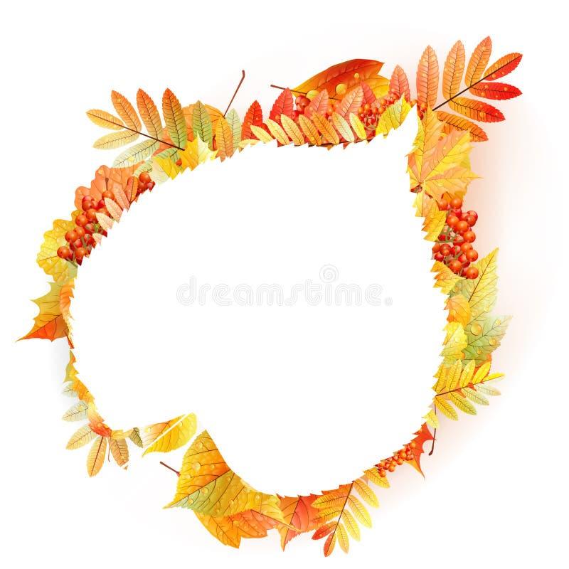 Herbstabstrakter Blumenhintergrund mit copyspace lizenzfreie abbildung