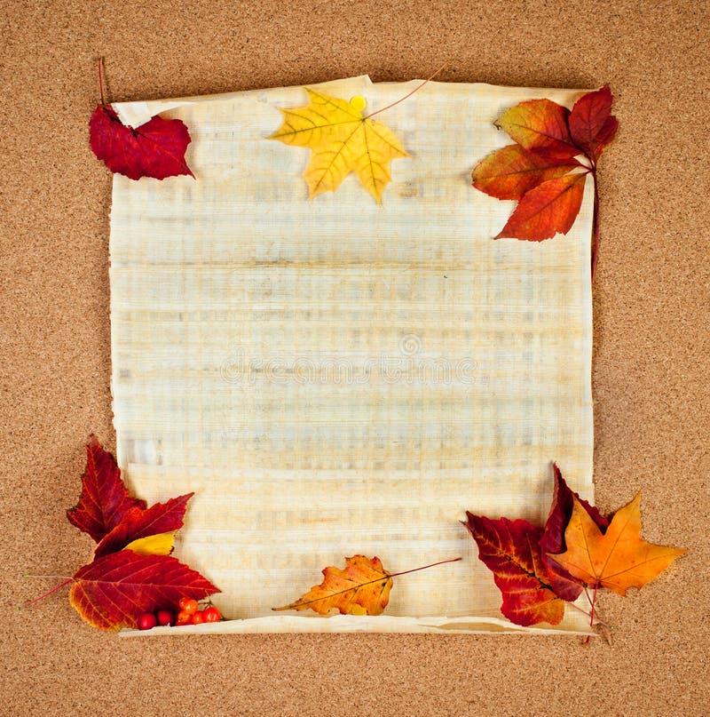 Herbstanmerkung lizenzfreie stockfotos