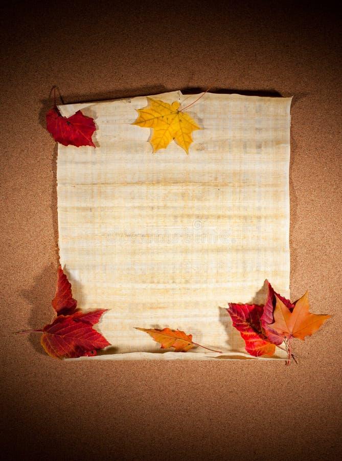 Herbstanmerkung stockfotos