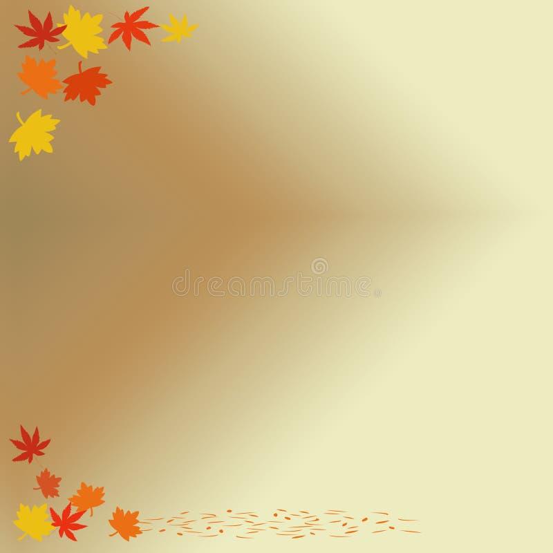 Herbstanmerkung lizenzfreie abbildung