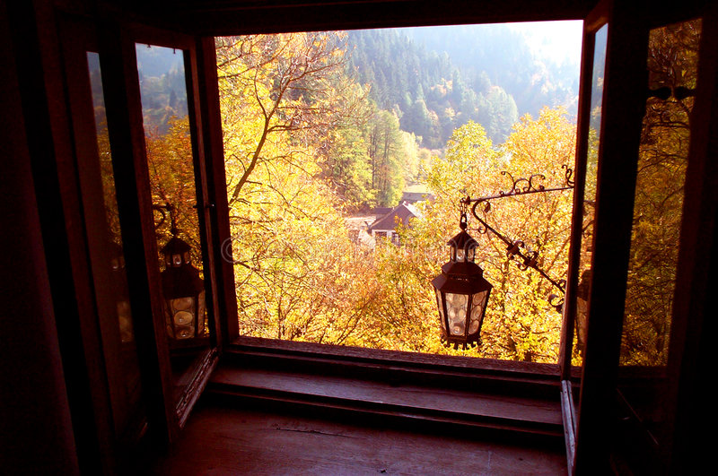 Herbstansicht lizenzfreies stockbild
