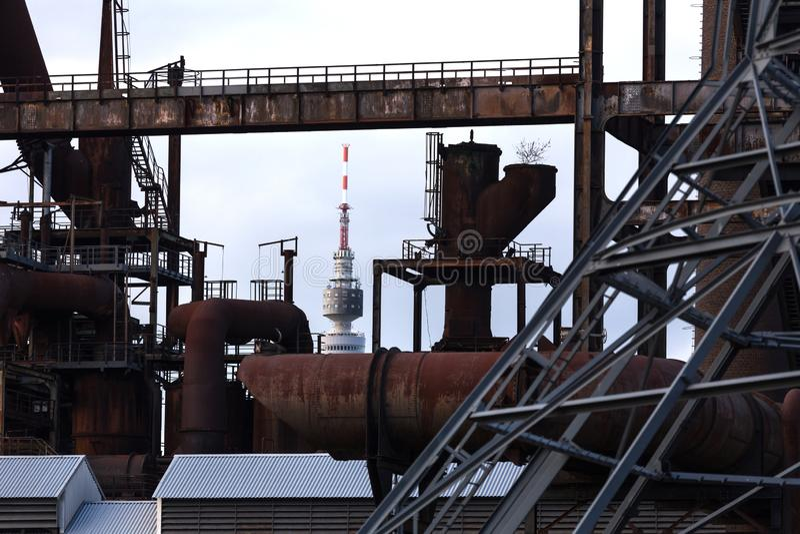 Herbstarchitektur Dortmunds Deutschland stockfotografie