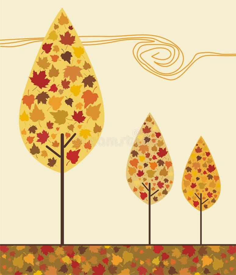 Herbstbäume vektor abbildung