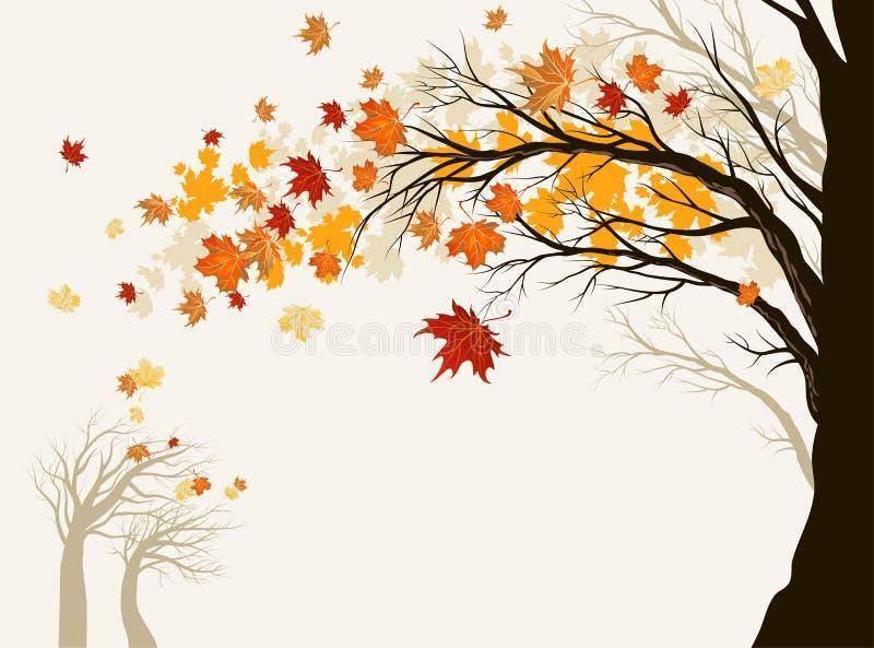 Herbstbaum vektor abbildung