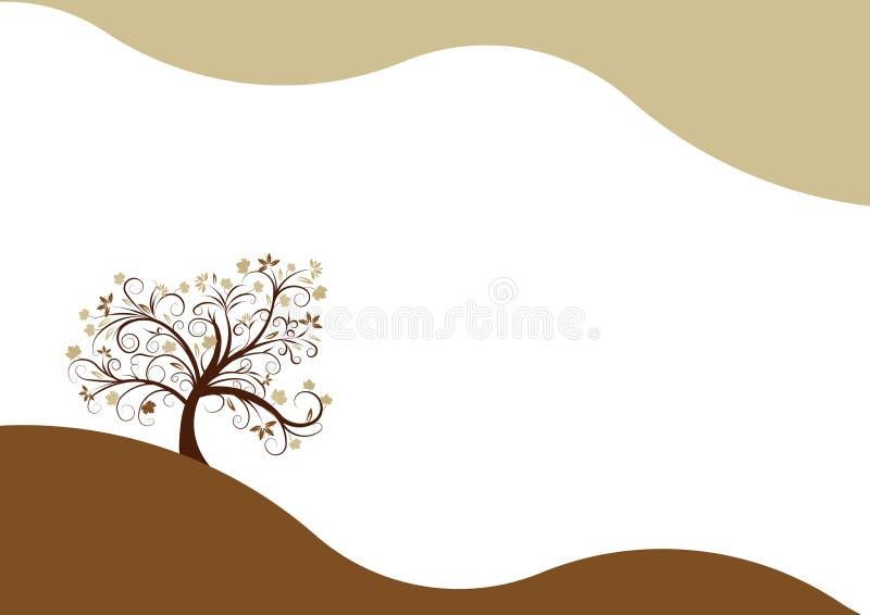 Herbstbaumauslegung stock abbildung