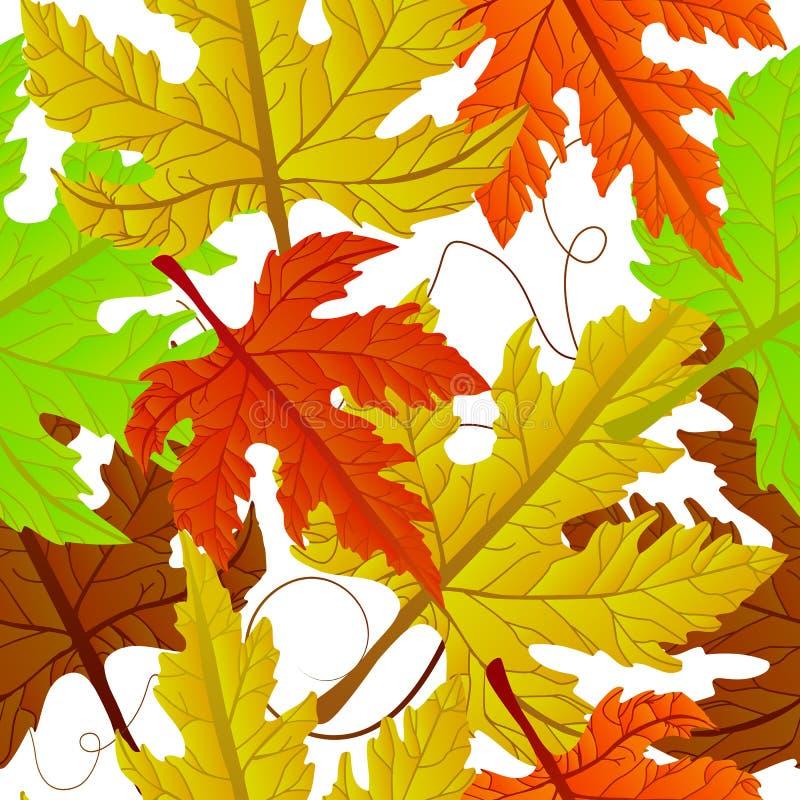 Herbstblätter nahtlos lizenzfreie abbildung