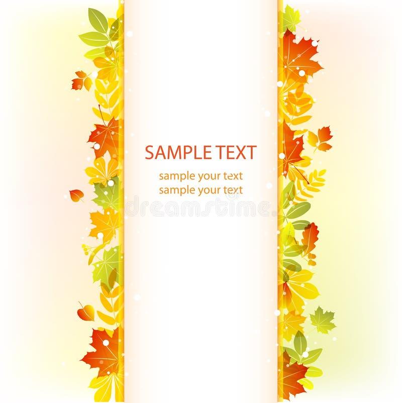 Herbstblathintergrund. vektorfahne