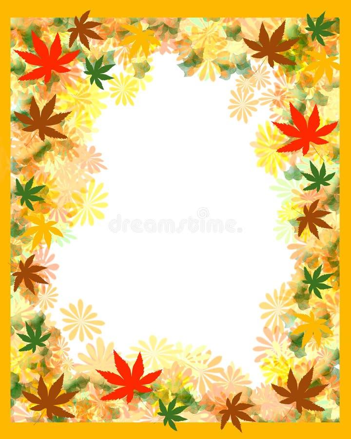 Herbstblattfeld vektor abbildung