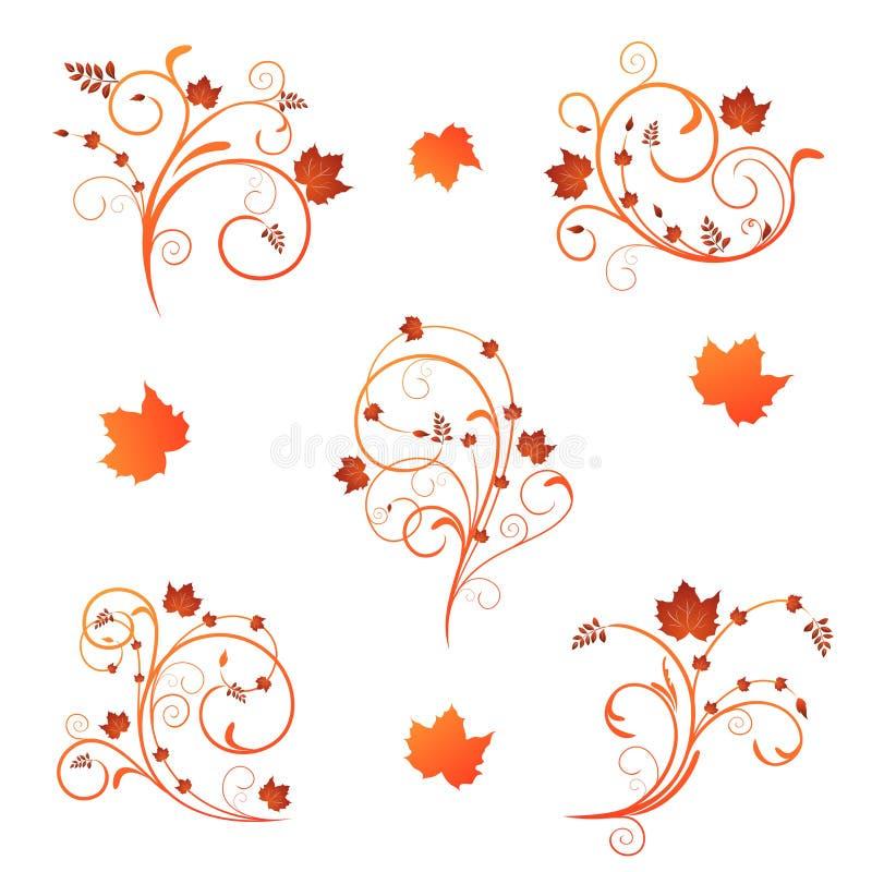 Herbstblumenauslegung vektor abbildung