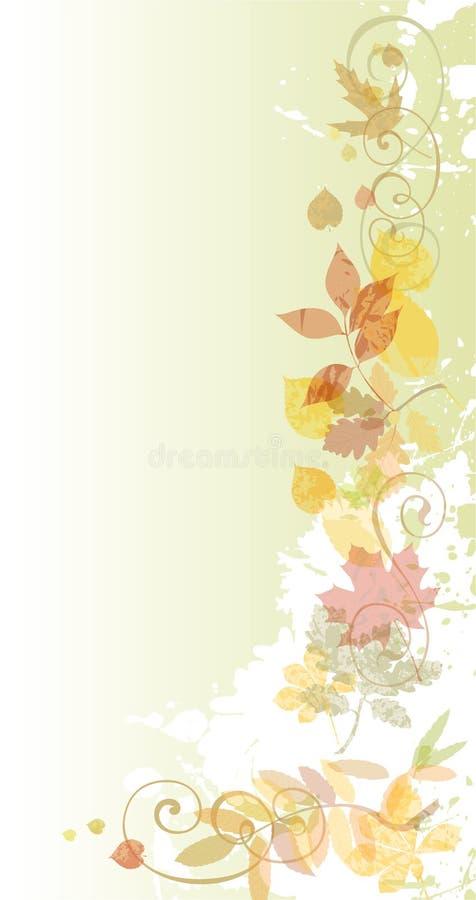Herbstblumenhintergrund. vektor abbildung