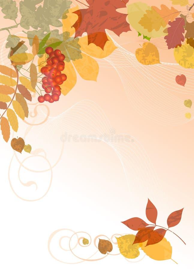 Herbstblumenhintergrund. stock abbildung