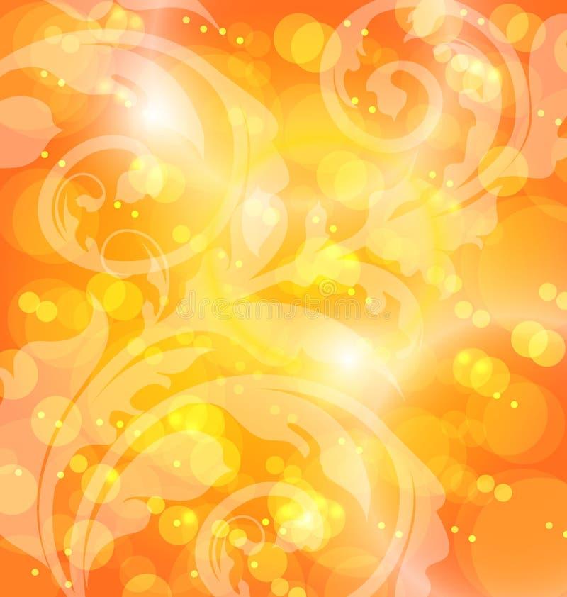 Herbstblumenschablone mit Effekt bokeh vektor abbildung