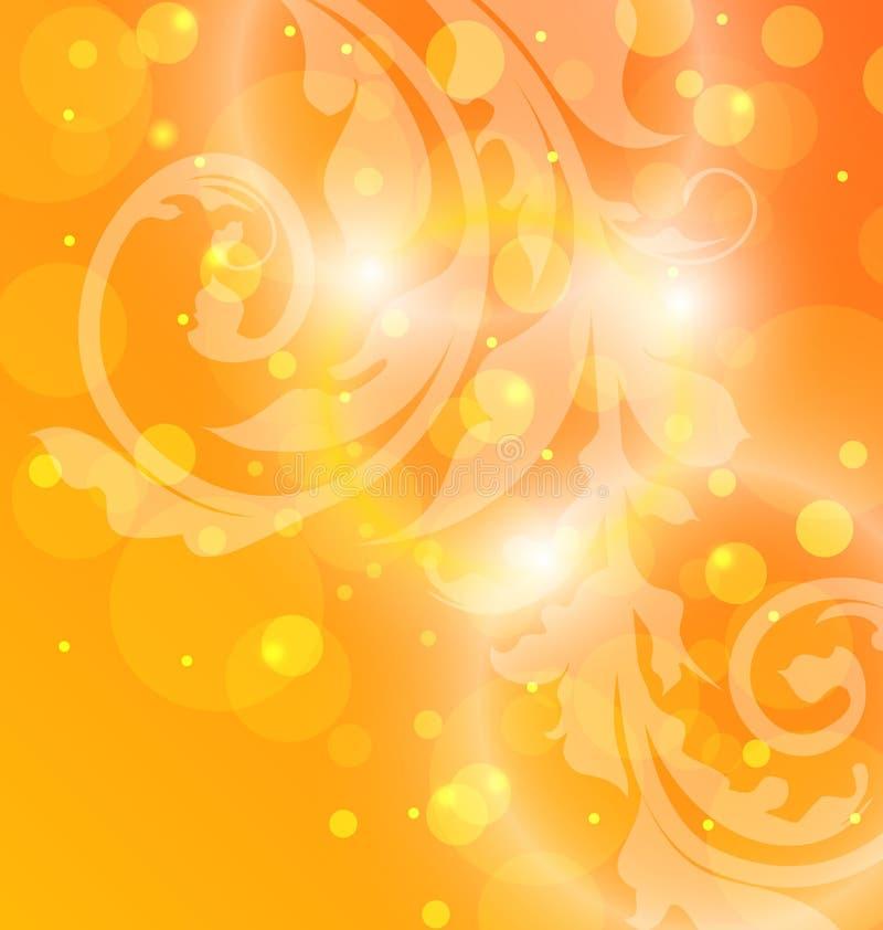 Herbstblumenschablone mit Effekt bokeh lizenzfreie abbildung