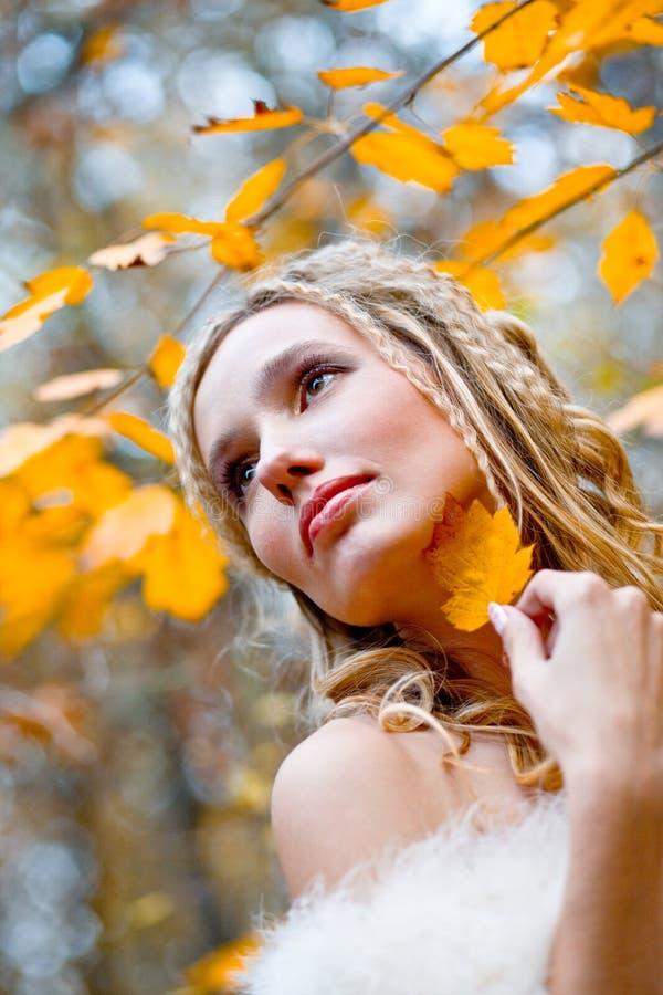 Herbstbraut stockfotografie