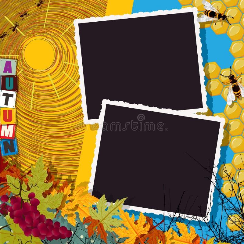 Herbstcollage lizenzfreie abbildung