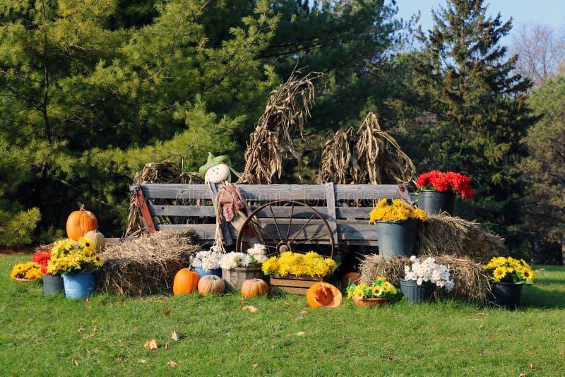 Herbstdekoration in Farmington-Hügeln Michigan lizenzfreie stockbilder