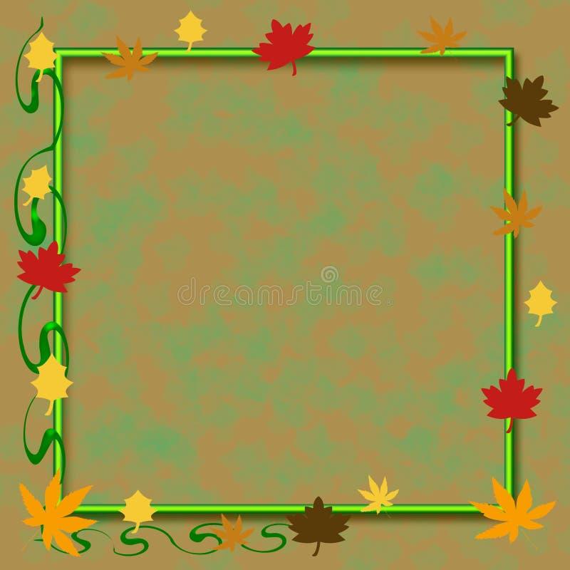 Herbsteinklebebuchfeld vektor abbildung