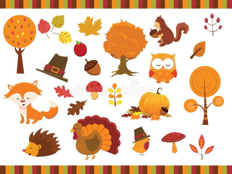 Herbstelemente lizenzfreie abbildung