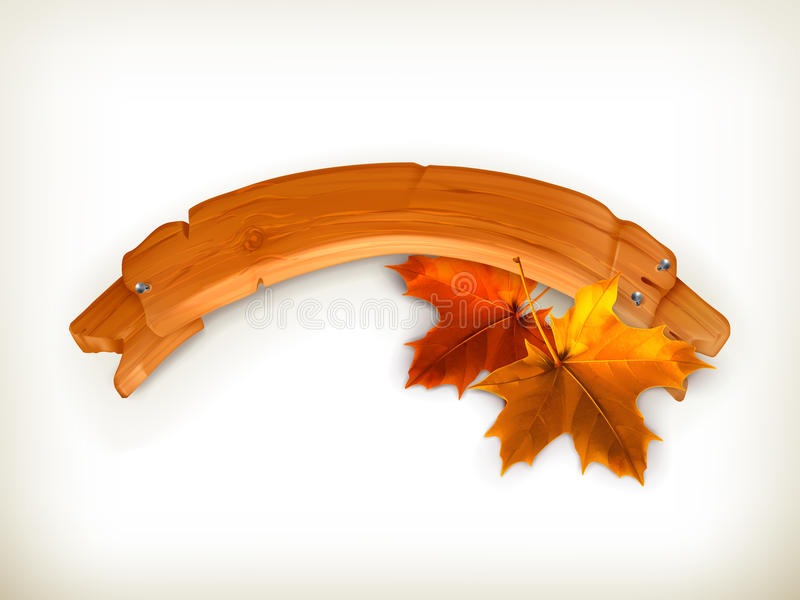 Herbstfahne vektor abbildung