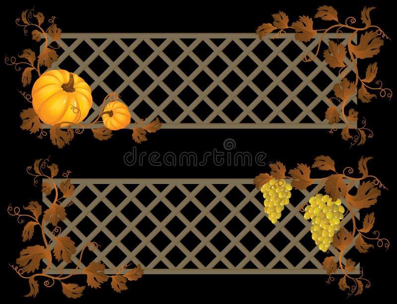 Herbstfahne lizenzfreie abbildung