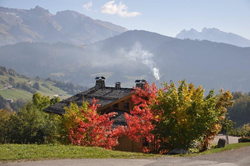 Herbstfarben in den Alpen stockbilder