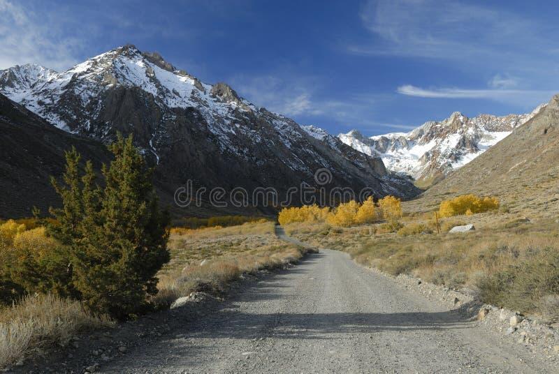Herbstfarben in der Sierra Nevada-Berge stockfotografie