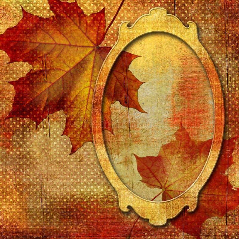Herbstfeld stock abbildung