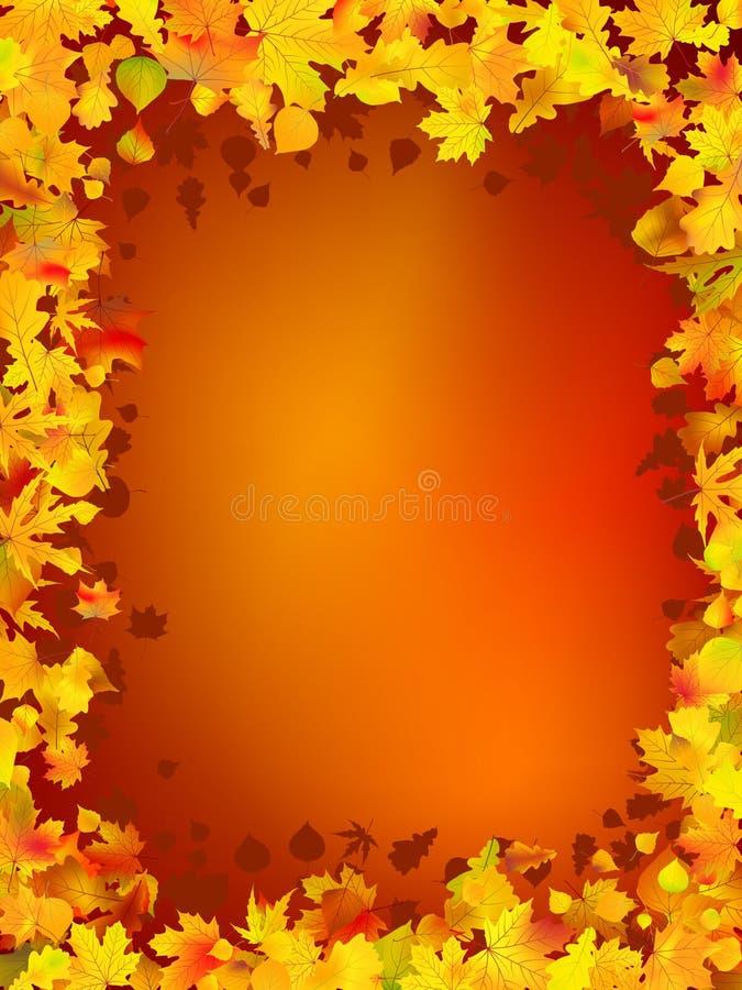 Herbstfeld von den Blättern stock abbildung