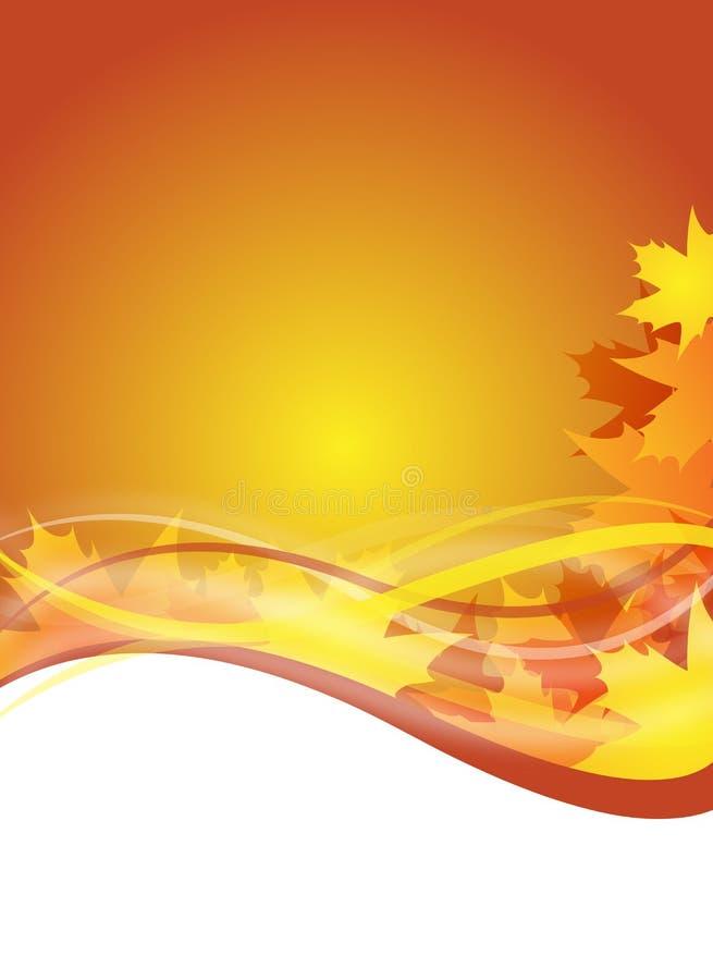 Herbstflugblatt lizenzfreie abbildung