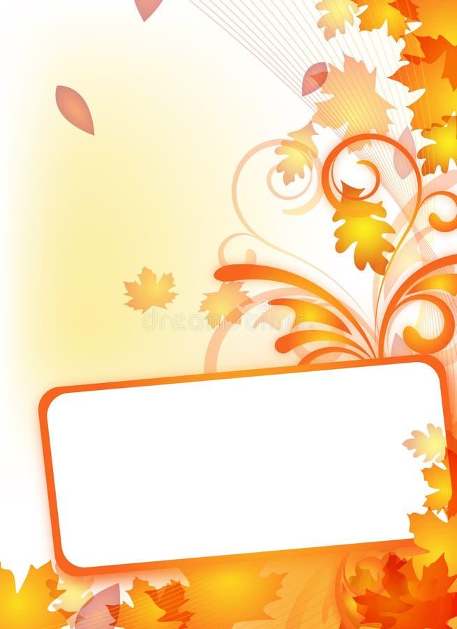 Herbstflugblatt mit Textfeld lizenzfreie abbildung