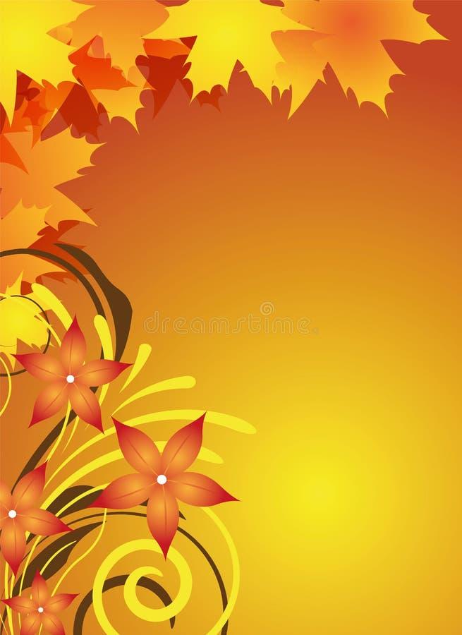 Herbstflugblattauslegung vektor abbildung