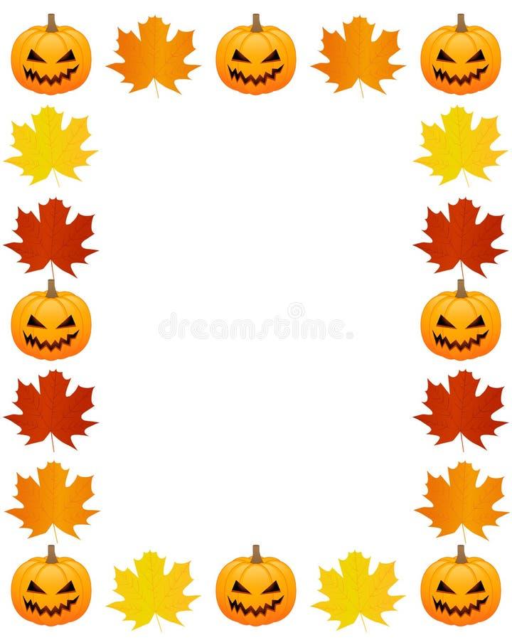 Herbstfotorahmen stock abbildung