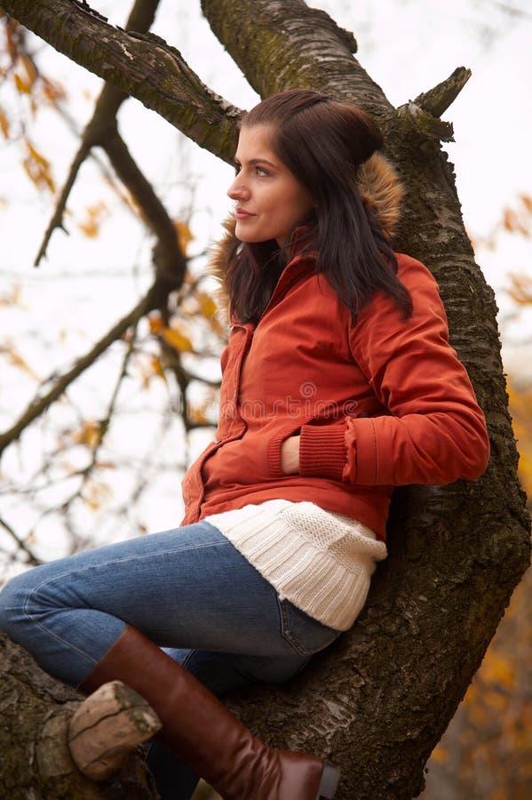 Herbstfrau lizenzfreies stockbild