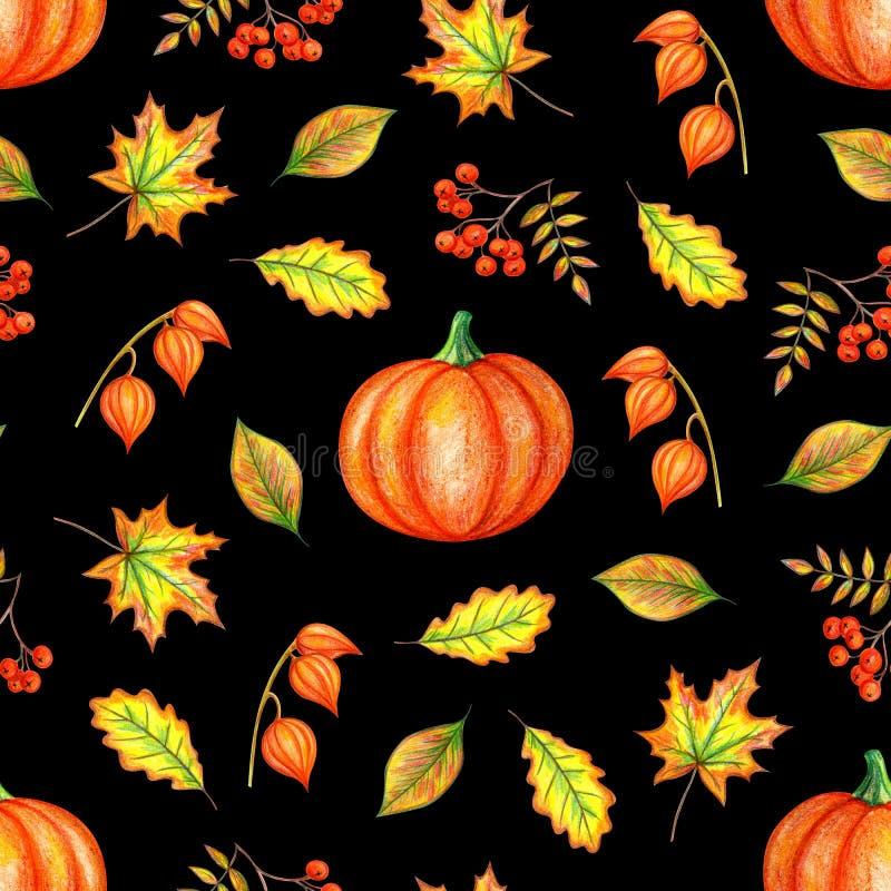 Herbsthandzeichnung stock abbildung