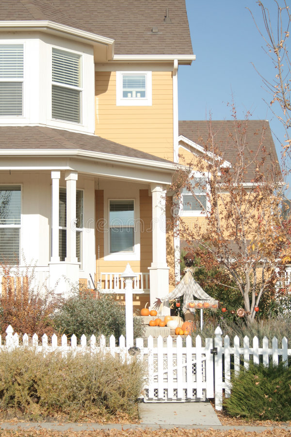 Herbsthaus stockfoto