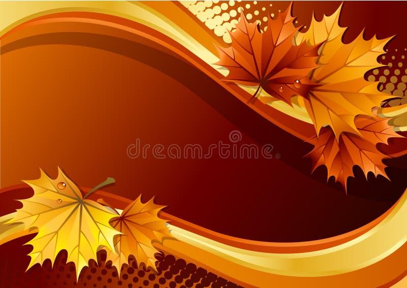 Herbsthintergrund stock abbildung