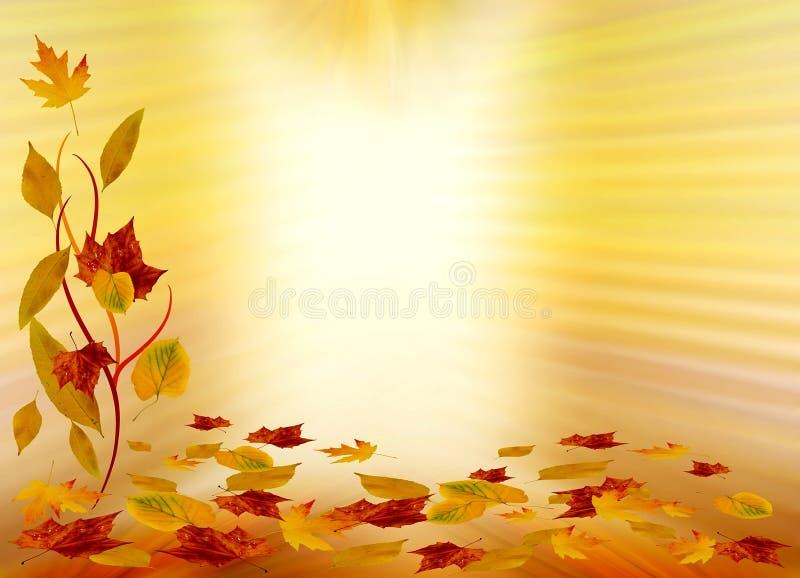 Herbsthintergrund lizenzfreie abbildung