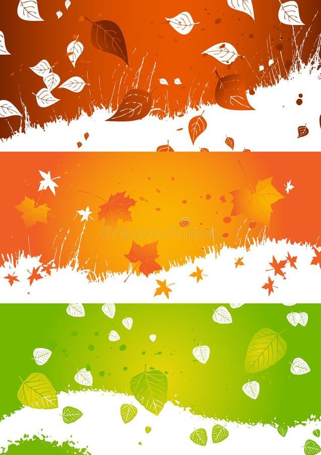 Herbsthintergrund, Fahne stock abbildung