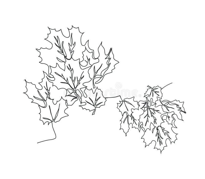 Herbsthintergrund mit Ahornblättern lizenzfreie abbildung